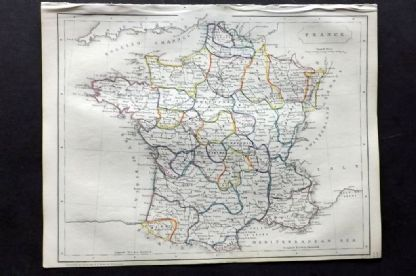 Barclay C1850 Antique Map. France